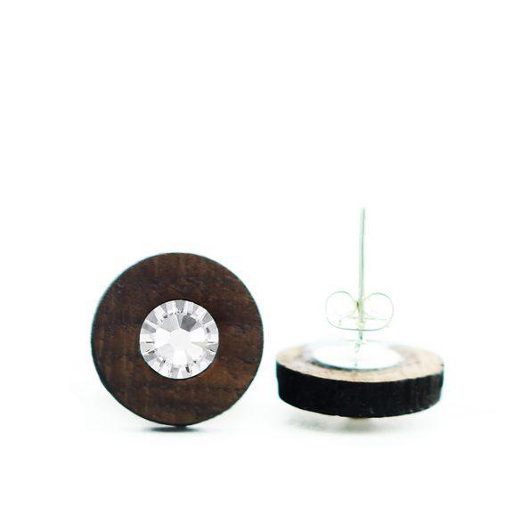 uhani swarovski kristal leseni