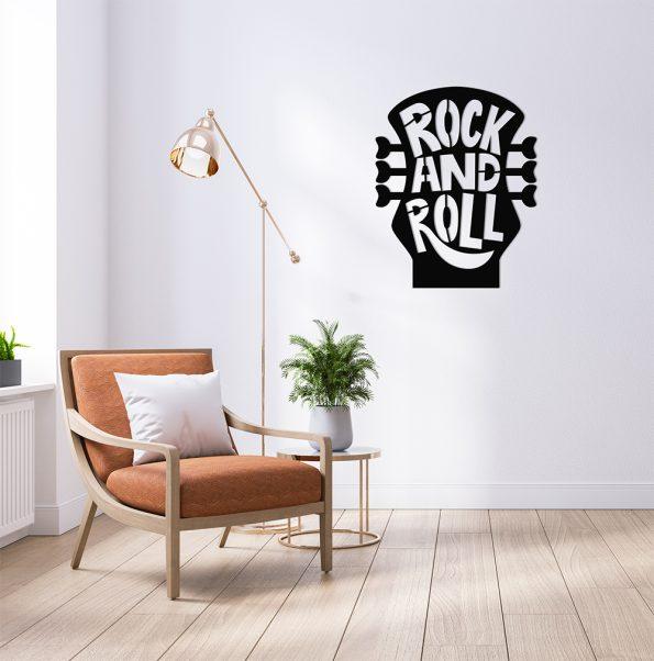 rock and roll kitara dekoracija za stene