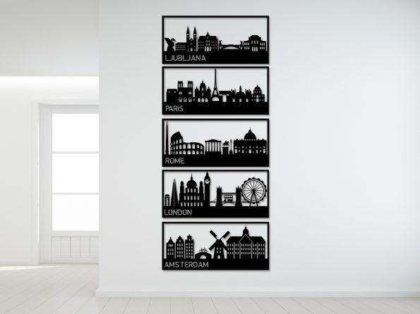 mesta stenska dekoracija london rim ljubljana amsterdam