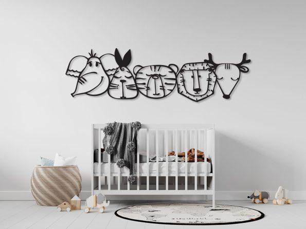otroška soba sobica dekoracija lesena